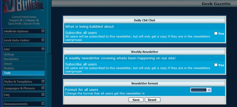 Image:GAZ Newsletter Subscription Tool.jpg